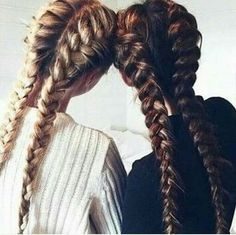 Картинка с тегом «hair, friends, and braid»