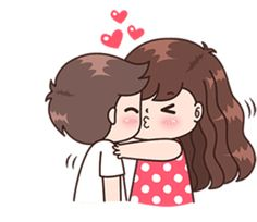 This love for you, send your love to your couple. It's so cute >. Cute Love Pictures, Cute Cartoon Pictures, Cute Love Gif, Love Cartoon Couple, Cute Love Cartoons, Chibi Kawaii, Kawaii Cute, Cute Baby Couple, Cute Couples