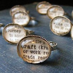 so inspired by these dictionary rings!