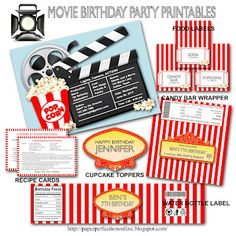 Paper Perfection: Movie Birthday Party Invitation and Printables