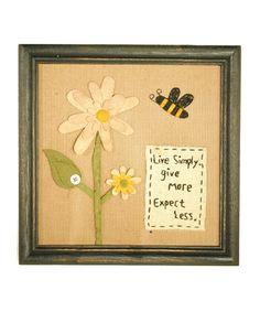 Take a look at this 'Live Simply' Wall Art by Pearson's Simply Primitives on #zulily today!