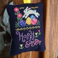 Happy Easter Bunny Cross Stitch pattern