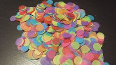 Rainbow Tissue Paper Confetti. Biodegradable confetti. by CardMuggle on Etsy