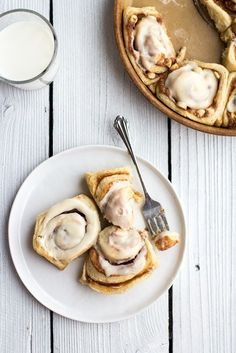 eggnog-flavored cinnamon rolls via Bustle.