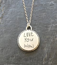 Our Handwritten Collection has jewelry pieces made using your actual handwriting – or even your childs, husbands, moms, grandmas etc. We love the idea of a pendant, ring, or bracelet bearing a handwritten name or note and think it would forever be loved and appreciated!  #personalizedgifts #heidijhale  Enjoy 20% off, when you spend $100, use code: newyear20   http://shop.heidijhale.com/product-tag/handwritten/