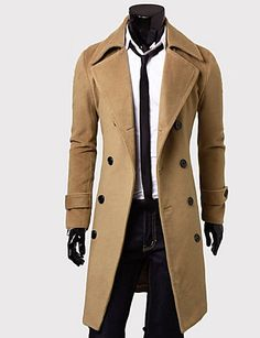 A man in a trench coat - is worth looking at! Chic stylish men's trench coat in black and beige at   $20.69