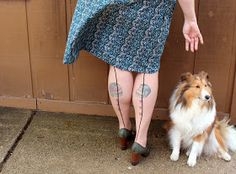 Consider my dear...: DIY: How to turn tights into thigh high stockings