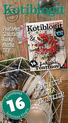 Mukana joulukuun Kotiblogit-lehdessä Christmas Wreaths, Holiday Decor, Bebe