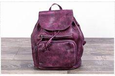 Full Grain Women Leather Backpack Travel Backpack School Backpack Feature: 1. Comfortable Shoulder Strap 2. Solid Quality Hardware 3. Fabric Lining ---------------------------------------- Measurement