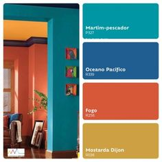 Colourful Living Room, Paint Colors For Living Room, Paint Colors For Home, House Colors, Mexican Home Decor, Indian Home Decor, Mexican Colors, House Color Palettes, Mexico House
