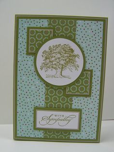 Stampin Up Handmade Greeting Card: Sympathy Card, Condolence Card, With Sympathy, Thinking of You