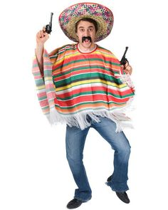 rainbow mexican poncho mens costume to go with the pinata costume - Mexican Themed Halloween Costumes