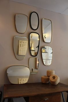 Mobilier industriel - Series of mirrors circa 1960