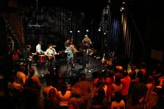 Old Crow Medicine Show play to a crowded studio during their Live @ CMT performance.