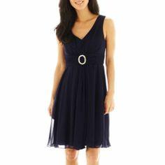 Jessica Howard Ruched-Waist A-Line Dress