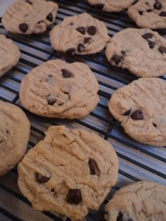 Peanut Butter Chocolate Chip Cookies on http://momwhats4dinner.com/peanut-butter-chocolate-chip-cookies/