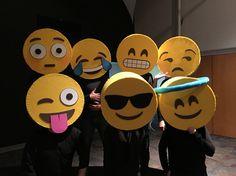 Emoji masks-made from cardboard, felt and foam