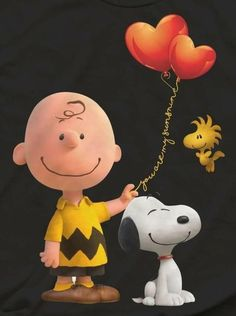 Charlie Brown, Snoopy, and Woodstock