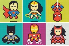 post-it notes,mural,awesome,superheroes