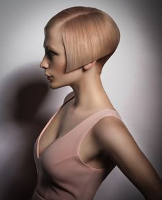 Pantone Top Spring Colors Toasted Almond and a blush of Strawberry Ice. Hair and color design by Nathan Jasztal. #hotonbeauty hotonbeauty.com
