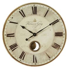 Have to have it. Uttermost Harrison Gray 30-in. Wall Clock - $217.8 @hayneedle
