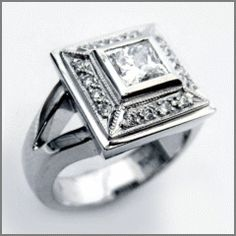 Diamond ring by Kirov jewelry studio