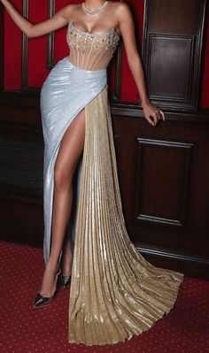 Glam Dresses, Ball Gown Dresses, Event Dresses, Fashion Dresses, Stunning Prom Dresses, Beautiful Gowns, Pretty Dresses, Beautiful Outfits, Prom Outfits