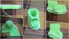 Making Step by Step Explained Baby Booties - Stricken Baby Boots, Crochet Baby Booties, Crochet Bolero Pattern, Crochet Shoes, Baby Cardigan, Sock Yarn, Baby Sweaters, Baby Design, Baby Knitting