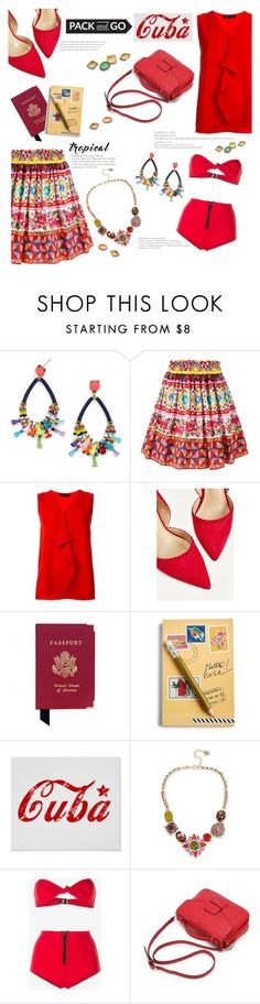 """Pack and Go: Cuba"" by tjclay3 ❤ liked on Polyvore featuring BaubleBar, Dolce&Gabbana, Proenza Schouler, Aspinal of London, Vera Bradley, Betsey Johnson, Lisa Marie Fernandez, polyvoreeditorial, Packandgo and cuba"