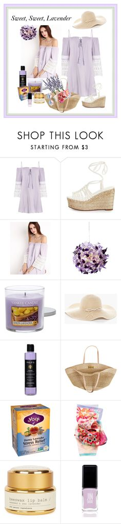 """Sweet, Sweet, Lavender!"" by onesweetthing ❤ liked on Polyvore featuring Chloé, Yankee Candle, Chico's, Philip B, Flora Bella, Haeckels, JINsoon and Sunday Somewhere"