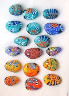 Рыбки из камушков - Сайт для мам малышей