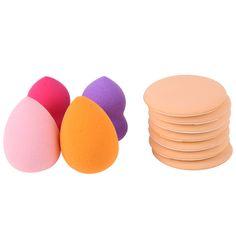 7pcs Air Cushion Puff Powder Makeup Cushion Cream Applicator Puff Sponges+ 2pcs Gourd Shaped Sponge +2pcs Water Drop Sponge