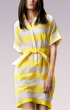 Lemon Striped Linen