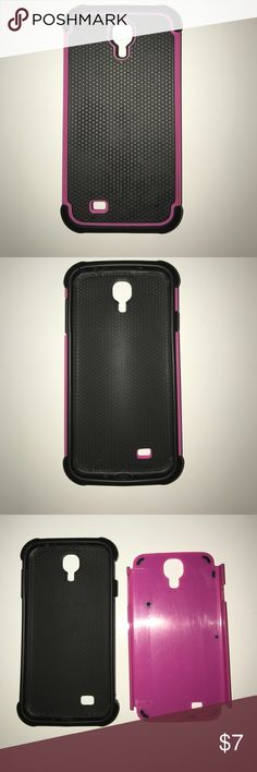 Samsung Galaxy S4 Case Pink and black case. Only few marks on silicon case. Very well condition. Very protecting of phone Accessories Phone Cases