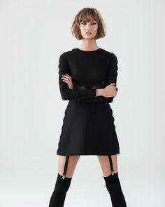 karlie shoot7 Karlie Kloss Stars in S Moda Shoot by Eric Guillemain #garter