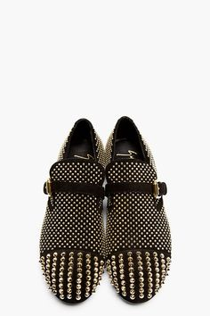 separation shoes fd932 cc831 GIUSEPPE ZANOTTI Black Studded Suede Buckled Loafers -- Statement shoe Shoes  Sandals, Shoes Sneakers
