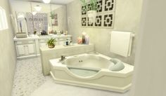 Über Sims: Haus 56 – Oasis Springs – Sims 4 – Via Sims: House 56 – Oasis S… - shedhouse Sims 4 House Plans, Sims 4 House Building, Home Building Design, Simple Bedroom Design, Unique House Design, Bedroom Modern, Tiny House Layout, House Layouts, Sims 4 Houses Layout