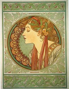 Laurel, Alphonse Mucha, 1901. Another possible tattoo :)