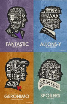 Dr Who Inspired Quote Poster Set #drwho #davidtennant #mattsmith #riversong