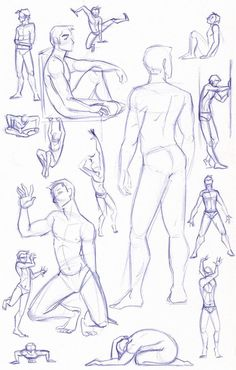 Figure Study Sketches (Male) by *kuabci on deviantART