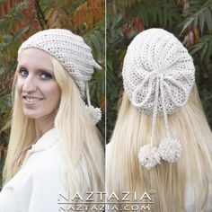DIY Tutorial Free Pattern and YouTube Video Crochet Soft Twist Slouchy Hat by Donna Wolfe from Naztazia