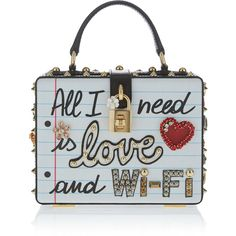 Dolce & Gabbana Book Design Top Handle Bag (€2.630) ❤ liked on Polyvore featuring bags, handbags, borse, white, embroidered bag, hand bags, white handbags, dolce gabbana purses and handle handbag