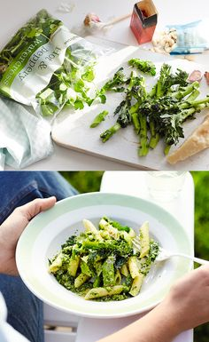 Ready in just 20 minutes, our purple sprouting broccoli penne with watercress pistou makes a great midweek meal.