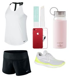 """""""run"""" by syddie-winchester on Polyvore featuring NIKE, Missha and Kate Spade"""