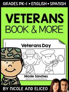 This downloads in English plus a FREE Spanish version. It has a variety of resources for your Veteran's Day unit or lessons. It includes a mini book, comprehension questions and graphic organizers. I made these Veteran's Day activities to use with my beginner readers.