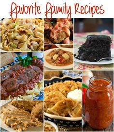 A collection of some our Favorite Family Recipes - includes Italian and Polish recipes passed down through generations! - A Family Feast