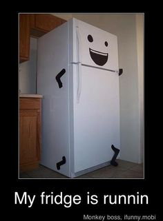 An idea for the office breakroom! Is your fridge running!