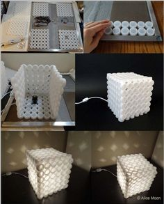 DIY Creative Plastic Bottle Cap Lamp - 12 Divergent Bottle Cap DIYs | GleamItUp