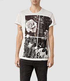 Mens Window Band Crew T-Shirt (Chalk) | ALLSAINTS.com