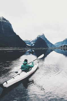 Kayaking by lebackpacker water fiord kayak paddle travel mountains wanderlust beauty Adventure Awaits, Adventure Travel, Adventure Quotes, Wanderlust, Oh The Places You'll Go, Places To Visit, Voyager C'est Vivre, Photos Voyages, Adventure Is Out There
